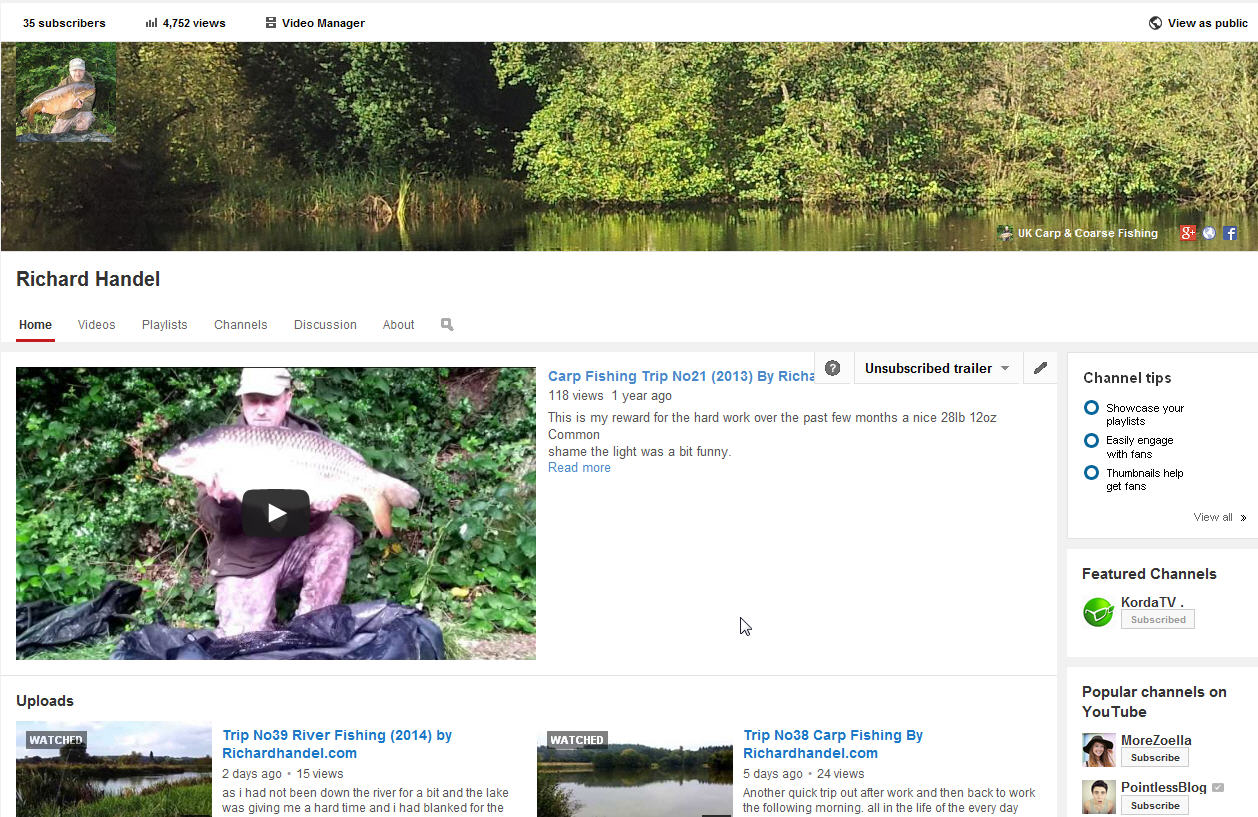 Subscribe to my youtube channel uk carp coarse fishing for Fishing youtube channels