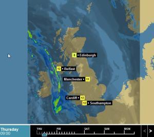 bbc rain